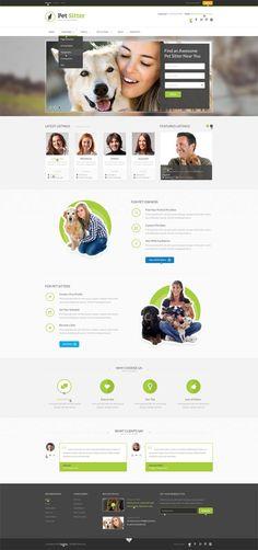 PetSitter – Job Board Responsive WordPress Theme #responsivedesign #wordpressthemes #html5css3 #magazinethemes #moderndesign #uiux