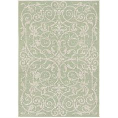 Couristan Monaco Summer Quay/ Ivory-lt Green Rug (8' x 13') - 17526635 - Overstock.com Shopping - Great Deals on COURISTAN INC 7x9 - 10x14 Rugs