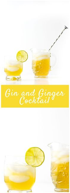 Ginger liqueur, ginger ale and gin combine to make this Gin and Ginger Cocktail a favorite!!