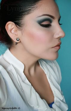 """Make-up Artist Me!: """"Blue in the Nude"""" makeup look!"""