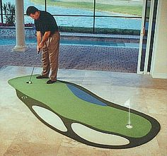 indoor putting green with company logo | Putting Greens | Pinterest ...