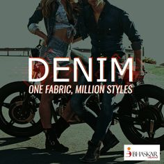 Fabric that allows the best of styling! #Denim #DenimFabric #BhaskarDenims