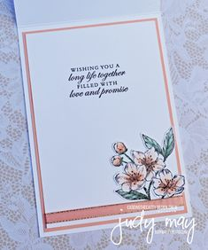 Stampin' Up! Forever Blossoms Bundle - Judy May, Just Judy Designs, Melbourne Cherry Blossom Images, Blossoms Florist, Paris Cards, Pretty Cards, Flower Cards, Exotic Flowers, Purple Flowers, Paper Design, Yellow Roses