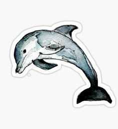 Dolphin stickers featuring millions of original designs created by independent artists. Tumblr Stickers, Phone Stickers, Journal Stickers, Cool Stickers, Printable Stickers, Homemade Stickers, Delphine, Aesthetic Stickers, Watercolor Animals