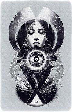 Vision by Dzeri #illustration #bw