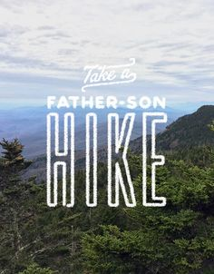 Most of our adventures are done as an entire family, but on this particular occasion the length of the hike meant that Parker (our youngest) would have to stay behind. Take a father-son hike. It's worth it! #FamilyTrails