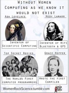 Without women computing as we know it would not exist