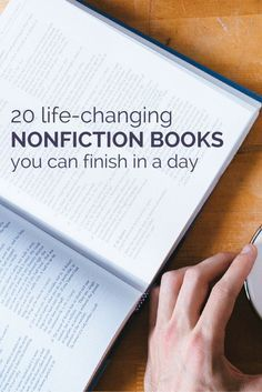 20 life-changing nonfiction books that you can finish in a day: