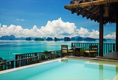 Six Senses Yao Noi resort in Phang Nga Bay near Phuket, Thailand has to be one of the most stunning places in the world. Best Honeymoon, Honeymoon Destinations, Honeymoon Ideas, Honeymoon Special, Honeymoon Places, Honeymoon Packages, Places To Travel, Places To See, The Places Youll Go
