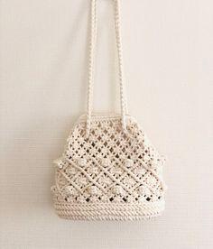 Macrame Bag, Straw Bag, Knots, Diy Crafts, Crafty, Crochet Bags, Diy And Crafts, Coin Purse, Crochet Purses