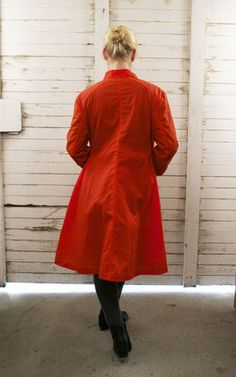 Waxed Canvas Work Coat: Ann Hamilton Hunter Orange