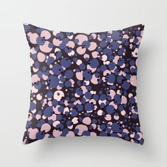 SPOTTED Black Throw Pillow