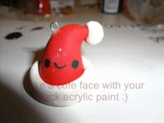 Polymer Clay Santa Hat Tutorial