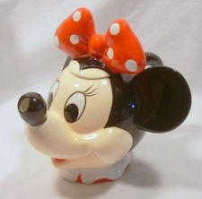 Disney Mickey Minnie Mouse Head Figural Collector Teapot MIB