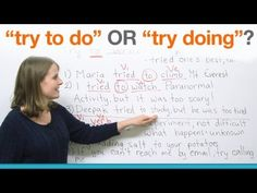 "English Grammar - ""try to do"" or ""try doing""? - YouTube     Repinned by Chesapeake College Adult Education Program.  www.chesapeake.edu"