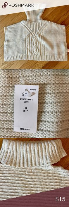 Gap kids cable knit poncho sweater nwt Gap kids cable knit poncho sweater nwt. Size 6-7 kids Shirts & Tops Sweaters