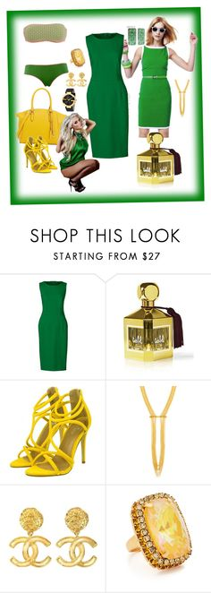 """Untitled #99"" by zainab-5-24 ❤ liked on Polyvore featuring Lands' End, Isabel Toledo, Henri Bendel, Chanel, Elizabeth Cole, Gucci and plus size dresses"