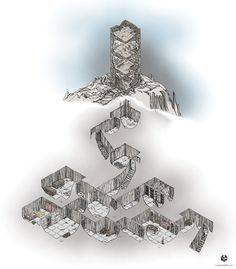 Photo: Found this one tucked away in the corner of my computer - forgot I had it. It's just a little tower map with accompanying dungeon - not an epic dungeon delve :). Anyway, feel free to use. In the meantime I've decided to delve into the land of Patreon as I start my next banner-style map. So, if you'd like to join me as I begin another map please check out the link below.  http://patreon.com/randy_m