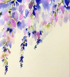 More Wisteria practice... I can't help but think of Desperate Housewives!   #abmlifeiscolorful #doitfortheprocess #lovelybylara #dscolor #instaart  #thatsdarling  #interiordecor #interiordesign #artforsale #craftsposure #etsyseller #etsy #handsandhustle #lovelybylara #dsart  #cylcollective  #walldecor  #makersmovement #mixedmedia  #makersmovement #creativityfound #flowerpainting #floral #bouquet #inspiring_watercolors #wisteria