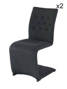 """2 sedie """"Slice"""" grigio scuro  59 x 46 x 94 cm"""
