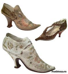 Старинная обувь (54 фото). Обсуждение на LiveInternet - Российский Сервис Онлайн-Дневников Cowboy Boots, Kitten Heels, Oxford Shoes, Booty, Rococo, Antique, Style, Inspiration, Fashion