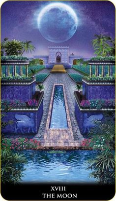 Featured Card of the Day - The Moon - New Babylonian Tarot by Roxana Paul