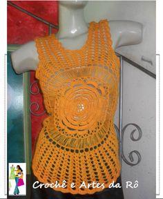 blusa de croche colorida com grafico - Pesquisa Google