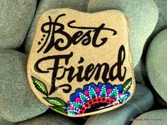 best friend / bff / painted rocks / painted stones / friendship gifts / friendship / rocks / stones / gifts for friends / boho gifts by LoveFromCapeCod on Etsy