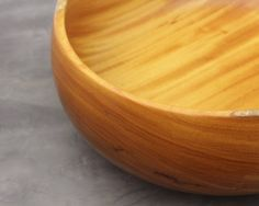 Wooden bowl, yellow wood
