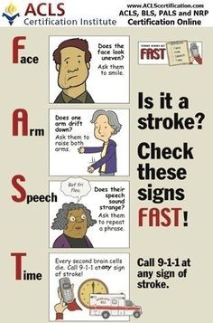 F.A.S.T. is an easy way to remember the sudden signs of stroke. When you can spot the signs, you'll know that you need to call 9-1-1 for help right away. #stroke #emergency