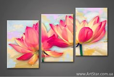 Multiple Canvas Paintings, Multi Canvas Painting, Lilac Painting, 3 Piece Canvas Art, Canvas Painting Tutorials, Floral Wallpaper Iphone, Moonlight Painting, Flower Art, Decoration