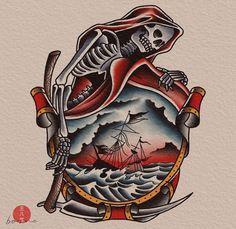 Traditional Tattoo Old School, Traditional Tattoo Art, Traditional Flash, American Traditional, Desenhos Old School, Old Scool, Old School Tattoo Designs, Tattoo Stencils, Tattoo Sketches