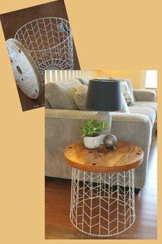 DIY accent table repurpose