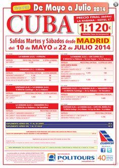 CUBA : La Habana, salidas del 24 de Junio al 22 de Julio dsd Madrid (8d/6n)p. final con tasas 1.120€ ultimo minuto - http://zocotours.com/cuba-la-habana-salidas-del-24-de-junio-al-22-de-julio-dsd-madrid-8d6np-final-con-tasas-1-120e-ultimo-minuto/