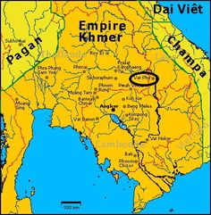 Cambodian roots: pre-Angkor archaeological site of Wat Phu Champasak in Laos Rome, Khmer Empire, Asian History, Archaeological Site, Historical Maps, Angkor, Natural Disasters, Ancient Art, Southeast Asia