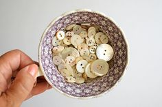 Vintage 150 Mother of Pearl Buttons Assorted Lot by honeyandsea