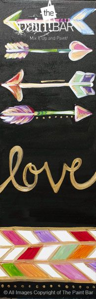 Lovely Arrows www.thepaintbar.com