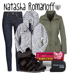 """""""Natasha Romanoff -- Captain America: The Winter Soldier"""" by evil-laugh ❤ liked on Polyvore featuring H&M, Gap, De Blossom, NatashaRomanoff and CaptainAmericaTheWinterSoldier"""