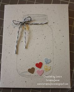 Mason Jar Stamped Card
