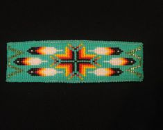 Native American beaded barrette by CameronGoods on Etsy
