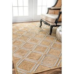 Shop for nuLOOM Trellis Jute Geometric Natural Rug (7'6 x 9'6). Get free shipping at Overstock.com - Your Online Home Decor Outlet Store! Get 5% in rewards with Club O! - 19979668