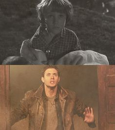 Oh my god this makes my blood run cold, because not only is this Dean seeing his brother's girlfriend burning to death on the ceiling while Sam screams in horror, but this is him actually SEEING what happened to their mother. Of course he KNEW what happened to her, could imagine it, but here it is RIGHT IN FRONT OF HIM and that look on his face is just pure horror, a lifetime's worth of pain and loss and violence all distilled down to this one unspeakable moment and oH MY GOD ...