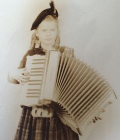 Little Girl with Accordion Irish Kilt Costume Vintage Photo Accordion Sheet Music, Pretty Little Girls, Etsy Vintage, Vintage Photos, 1930s, Paper Art, Irish, I Shop, Costumes