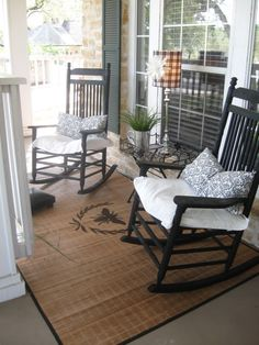 Seating area for front porch