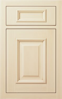 Bloomfield Raised door style by #WoodMode, shown in Classic Opaque Vintage White finish on maple.