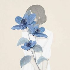 #illustration #choimikyung #ensee #pastel #flower #blue #ens2e