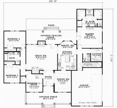 Good house plan although I wish the covered porch wrapped all the way around the left side of the house. And the bonus room on 2nd floor would make a great theater/game room! I would want to use bedroom #2 as my office.