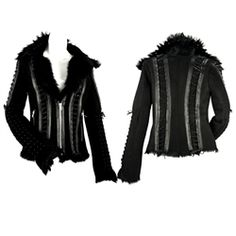 Cowgirl Couture Kippys Leather & Shearling Marionette Chained Jacket