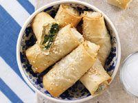 Greek cheese & spinach rolls Channel Nine Australia