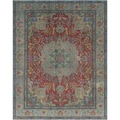 Noori Rug Fuat Rust/Grey Distressed Overdyed Rug (9'6 x 12'0) - Free Shipping Today - Overstock.com - 22297580